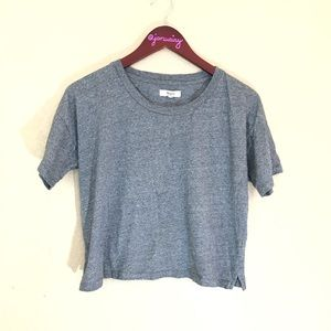 Madewell small gray cropped short sleeved tee